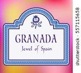 granada spain street sign eps10 ... | Shutterstock .eps vector #557115658