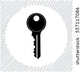 key vector icon   black ... | Shutterstock .eps vector #557117086