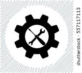 settings vector icon   black ... | Shutterstock .eps vector #557117113