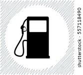 gas station vector icon   black ...   Shutterstock .eps vector #557118490