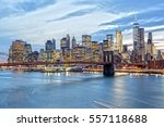 New York Skyline At Night From...
