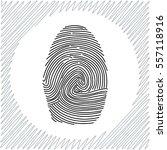 fingerprint vector icon   black ... | Shutterstock .eps vector #557118916