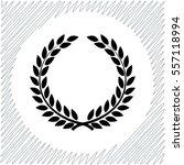 laurel wreath vector icon  ... | Shutterstock .eps vector #557118994