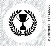 trophy in laurel wreath vector... | Shutterstock .eps vector #557120230
