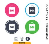 80  sale bag tag sign icon....   Shutterstock .eps vector #557121970