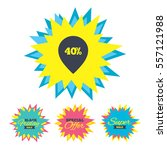 sale stickers and banners. 40 ...   Shutterstock .eps vector #557121988