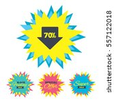 sale stickers and banners. 70 ...   Shutterstock .eps vector #557122018