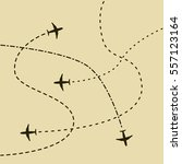 airplane routes concept... | Shutterstock .eps vector #557123164