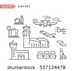 airport vector icon | Shutterstock .eps vector #557124478