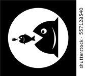 big fish eat little fish | Shutterstock .eps vector #557128540
