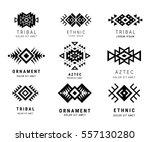 monochrome aztec style... | Shutterstock .eps vector #557130280