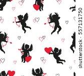 cute cupids seamless pattern....
