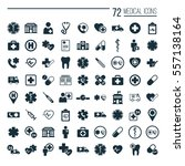 medical icons set on white... | Shutterstock .eps vector #557138164
