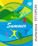 hello summer 2018 abstract... | Shutterstock .eps vector #557139154