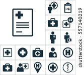 report blank icon  medical... | Shutterstock .eps vector #557140219