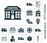 hospital building front icon ... | Shutterstock .eps vector #557140264