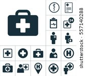 emergency briefcase icon ... | Shutterstock .eps vector #557140288