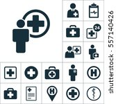 doctor health worker icon ... | Shutterstock .eps vector #557140426