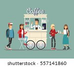 creative detailed vector street ... | Shutterstock .eps vector #557141860