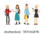 flat illustratuion set of... | Shutterstock .eps vector #557141878