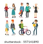flat illustratuion set of... | Shutterstock .eps vector #557141890