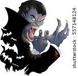 evil vampire picture | Shutterstock .eps vector #557148124