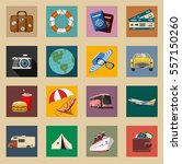 colored vintage travel and... | Shutterstock .eps vector #557150260