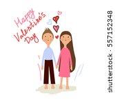valentine's day. lovely girl... | Shutterstock .eps vector #557152348
