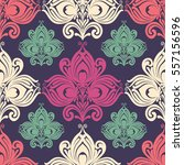 floral seamless pattern in... | Shutterstock .eps vector #557156596