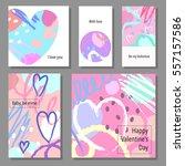 valentine s day creative... | Shutterstock .eps vector #557157586