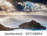 a chapel on the top of the... | Shutterstock . vector #557158894