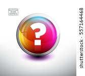 punctuation in 3d glossy button ... | Shutterstock .eps vector #557164468