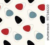 vector seamless mid century... | Shutterstock .eps vector #557166220