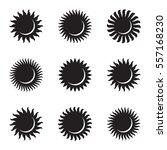 sun icon set. astronomy....   Shutterstock .eps vector #557168230