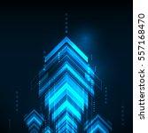abstract blue arrows technology ... | Shutterstock .eps vector #557168470