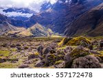 Mossy Volcanic Andean Landscap...