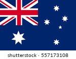 flag of australia. vector... | Shutterstock .eps vector #557173108