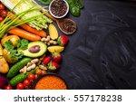 vegetables  fruits  lentils ... | Shutterstock . vector #557178238