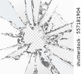 vector broken glass  on a plaid ... | Shutterstock .eps vector #557181904