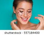 festive makeup | Shutterstock . vector #557184400