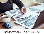 close up of woman hands using...   Shutterstock . vector #557189179
