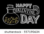 happy valentines day lettering... | Shutterstock .eps vector #557190634