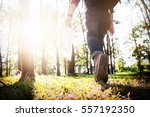 young man traveler with... | Shutterstock . vector #557192350