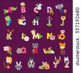 set of animals alphabet for kids | Shutterstock .eps vector #557192680
