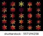 snowflake vector icon... | Shutterstock .eps vector #557194258