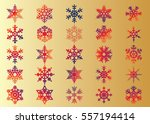 snowflake vector icon... | Shutterstock .eps vector #557194414
