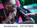 moscow 27 march 2015 rap singer ... | Shutterstock . vector #557197804