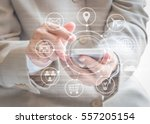 mobile service app for business ... | Shutterstock . vector #557205154