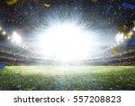 empty night grand soccer arena... | Shutterstock . vector #557208823
