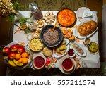 traditional ukrainian food...   Shutterstock . vector #557211574